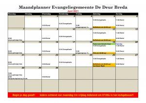 Kalender Juni 2021